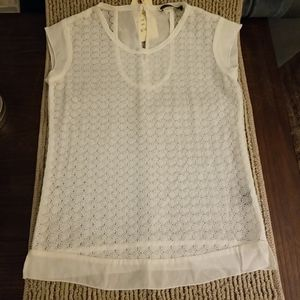 by Langley Aimee lace tee NWT